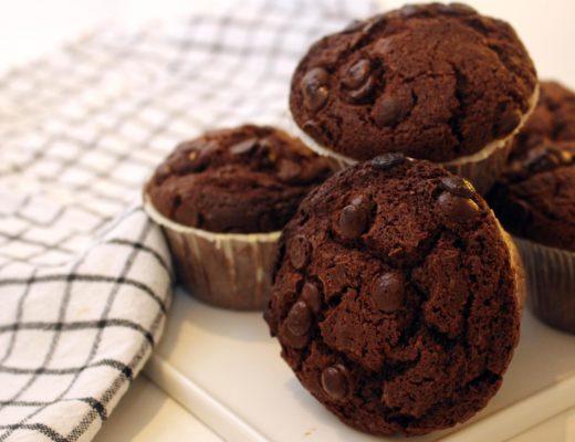 Stora chokladmuffins