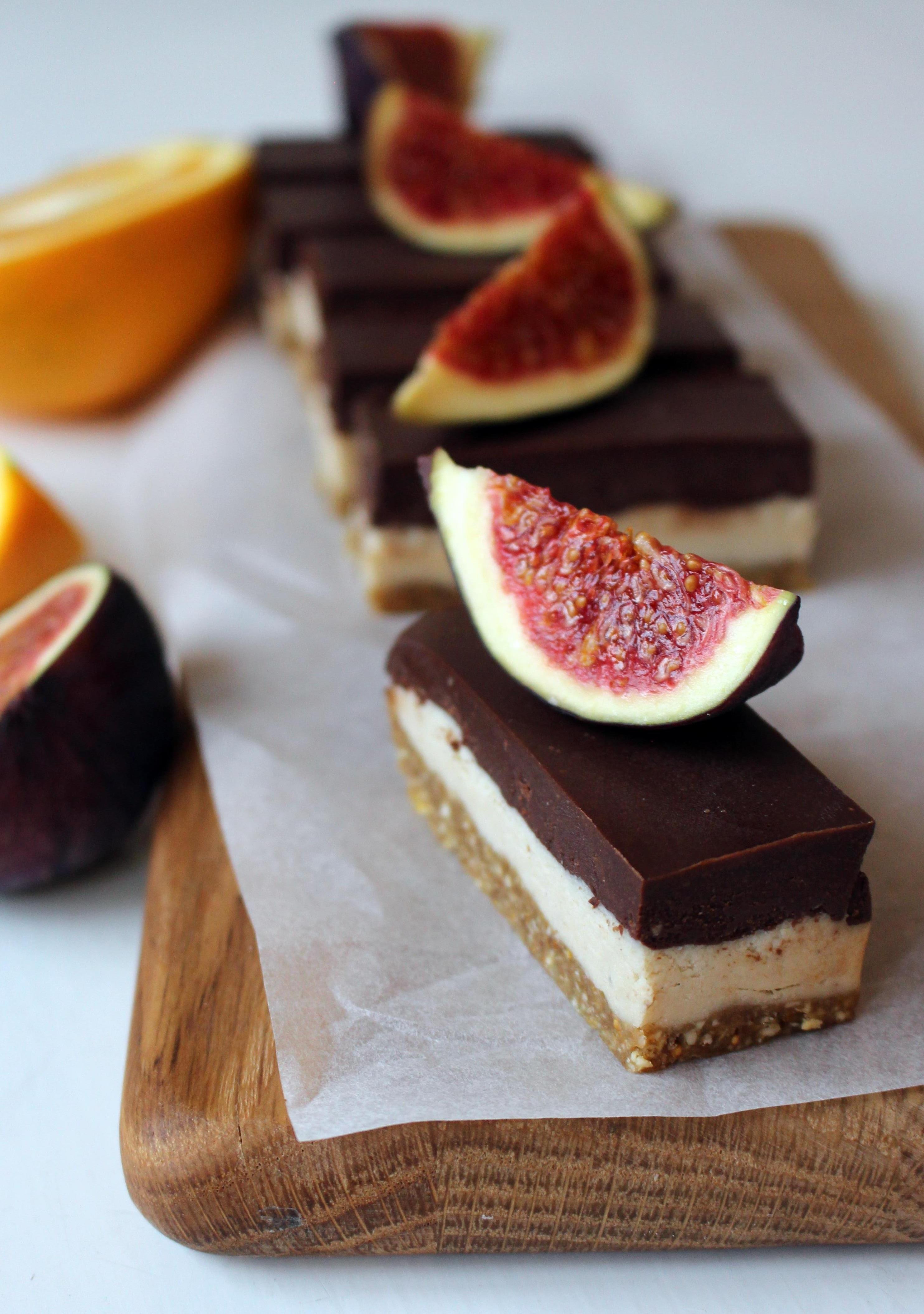 raw cheesecake med fikon