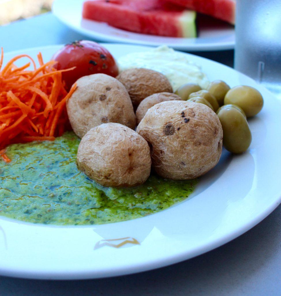 De här skrynkliga, kanariska potatisarna med Mojo verde blev det många utav under veckan, fantastiskt goda!