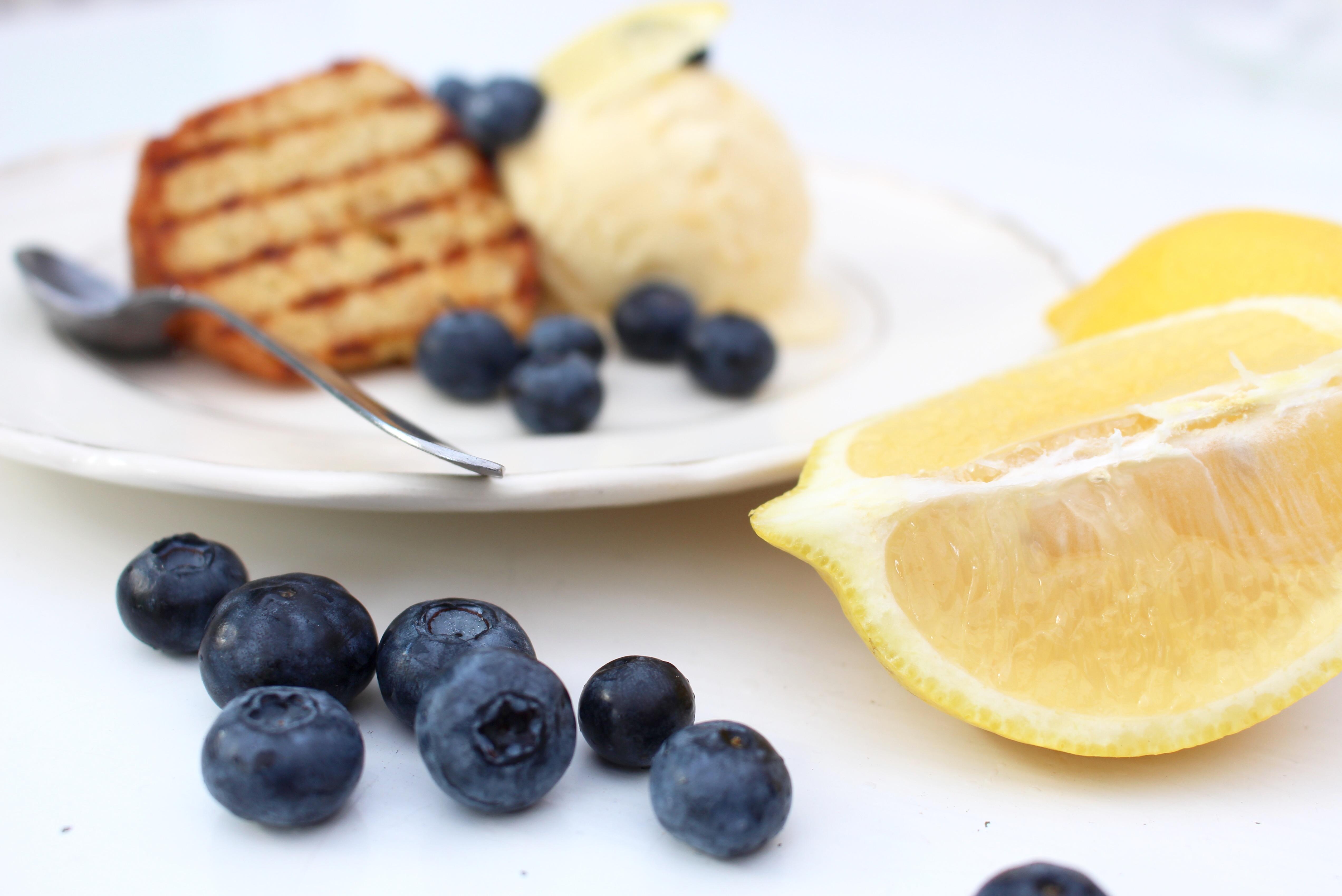 Blåbär och citron