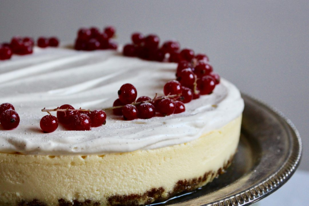 cheesecake med mascarpone och vit choklad