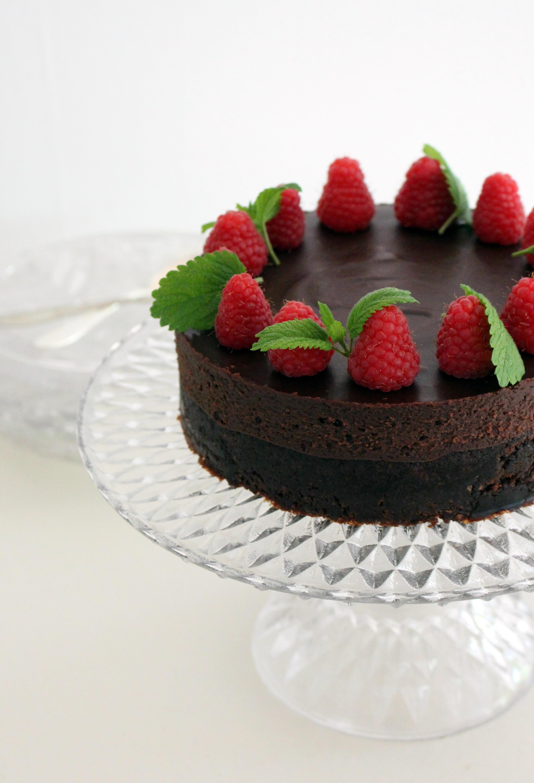 chokladtårta hallon