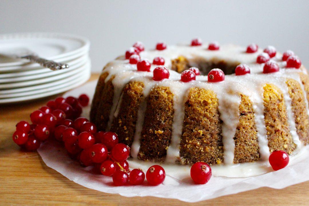 mjuk p-kaka med glasyr