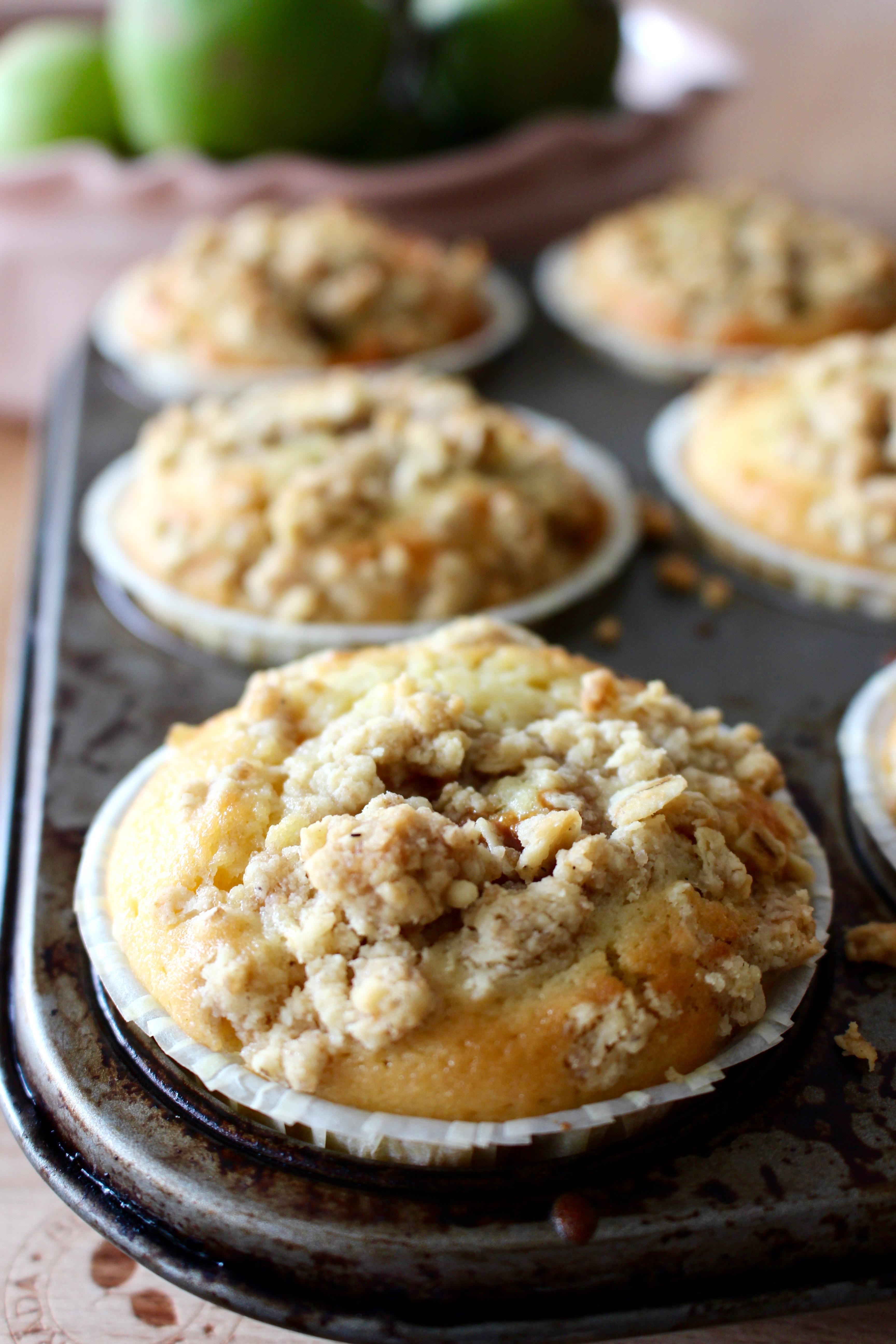nygräddade muffins