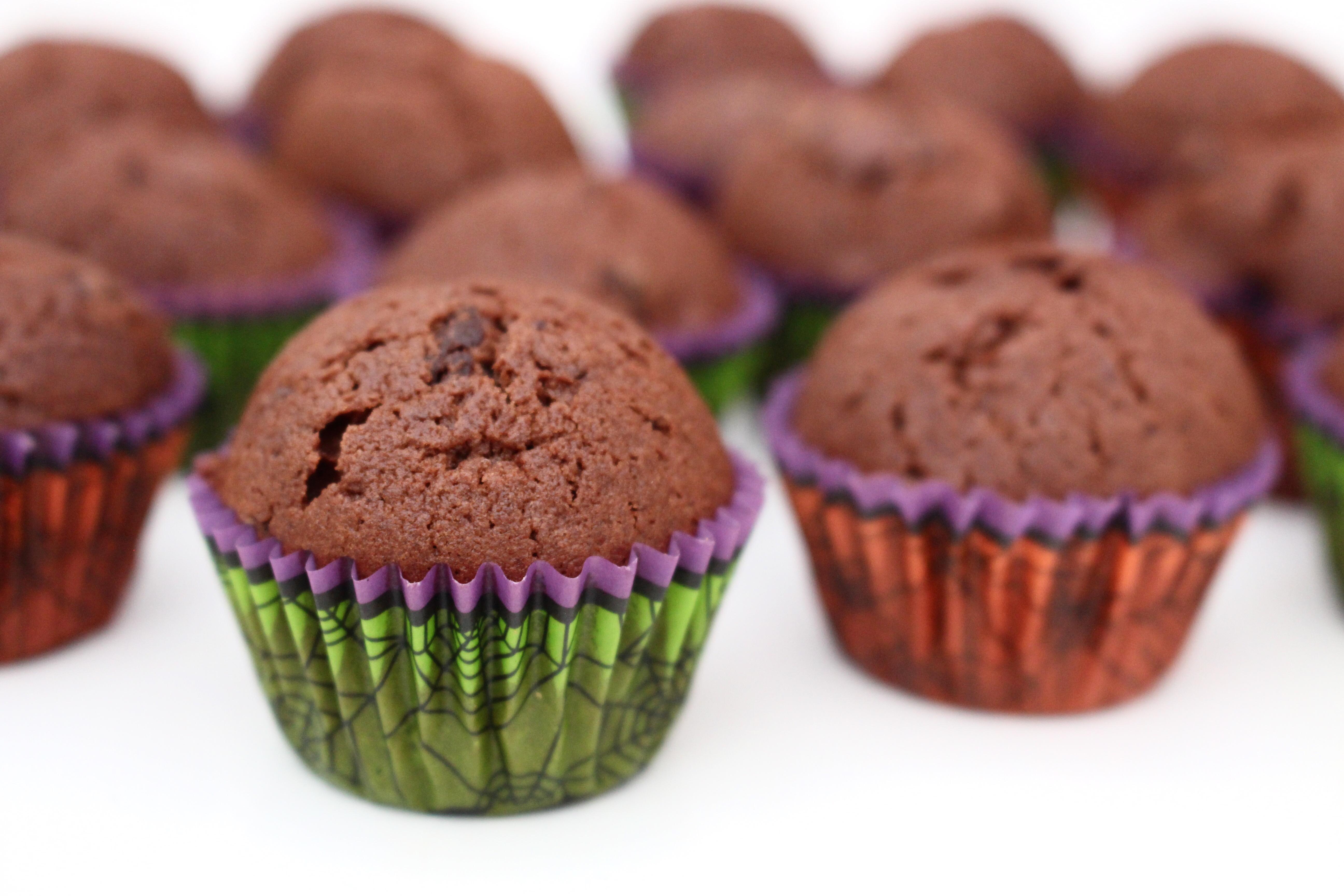 små chokladmuffins